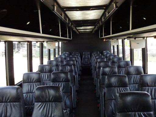 Sunset Transportation 37 Passenger Black Luxury Coach Interior