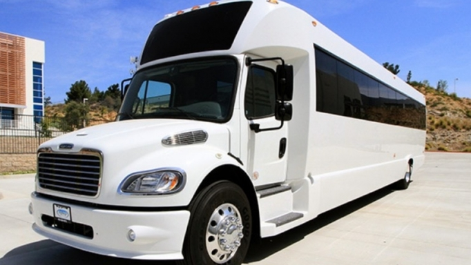 Denver luxury coach rental from Sunset Transportation