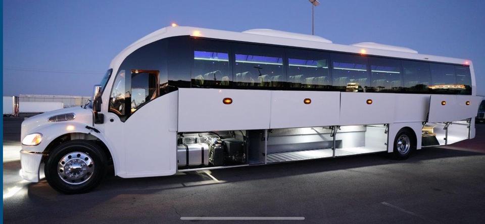 2020 white 57 passenger sunset luxury coach